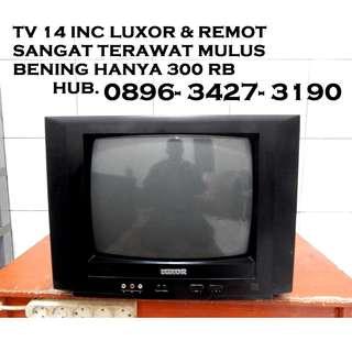 "Tv 14""LuXoR Body MULUS Mesin Asli Remot Mulus KATAPANG SOREANG"