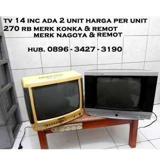 """Tv 14"""" Ada 2 Unit Price Per Unit Sangat Siap Pakai KATAPANG SOREANG"""