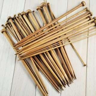 (L25cm/36cm) 36pcs/18pairs Bamboo Single Pointed Knitting Needles