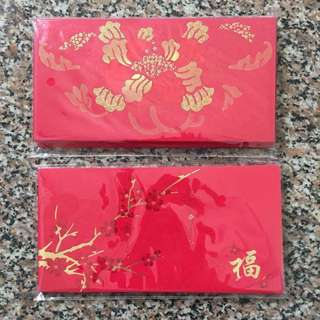 4 packs Mizuho, MUFG CNY Red Packets