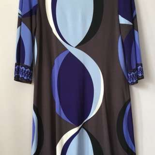 Donna Morgan Blue Dress - Medium