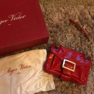 🈹SALE🈹 Roger Vivier Red Patent Bag ❤️