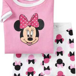 Readystock Minnie Mouse Pink White Set
