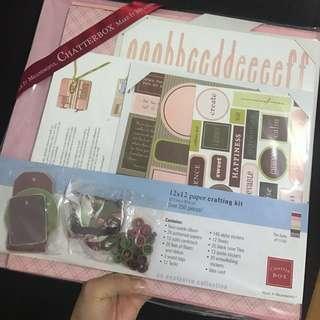 Scrapbook 12x12 paper crafting kit