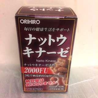 日本立喜樂ORIHIRO 納豆激酶提取精華膠囊60粒