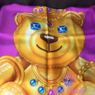 Moschino crowned bear 🐻 print scarf