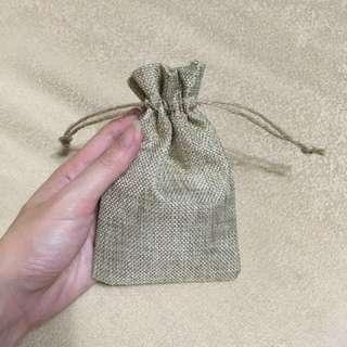 Jute bag burlap pouch wedding favour
