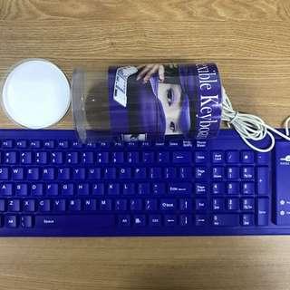 可摺鍵盤 藍色