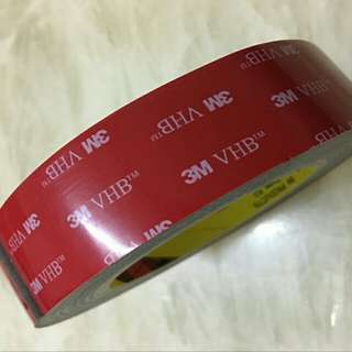 3M VHB Acrylic Double Side Tape. Black Tape. 2.3mm Super Thick Acrylic. 4991. VHB -  Very High Bonding. Super Heavy Duty Grade. Extremely Strong Adhesion. Withstand High Heat. Width Sizes Available : 10mm/15mm/20cm Length : 3meters. From: $18.90 - $$26.90