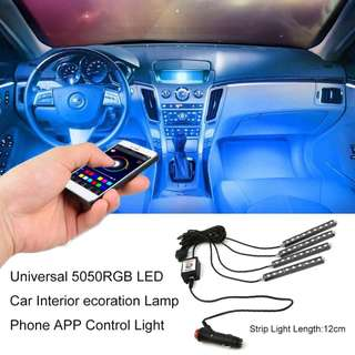 🔝 Remote Controlled Car LED light colour changing neon lights