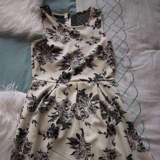 Forever 21 White & Black Dress