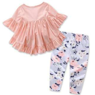 Toddler Kids Baby Girl Outfit - Top + Legging 2PCS