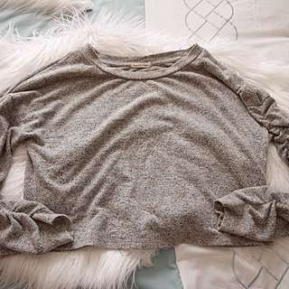 Heart Hips Grey Cropped Sweater