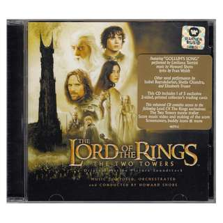 <The Lord of the Rings - The Two Towers> Original Motion Picture Soundtrack (2002 CD)