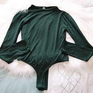Room Service Emerald Mock Neck Bodysuit