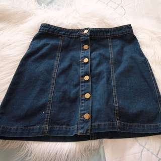 Urban Heritage Denim Skirt