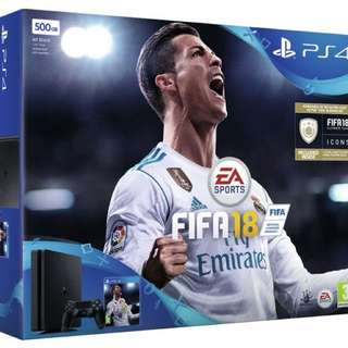PS4 500gb slim FIFA18 bundle! Brand new!