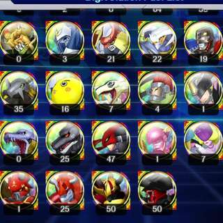 Digimon link End Game account