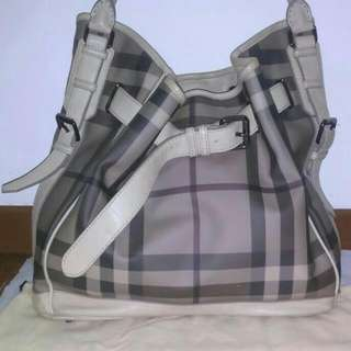 BURBERRY Smoked Check Belted Hobo (Reduced Price)...