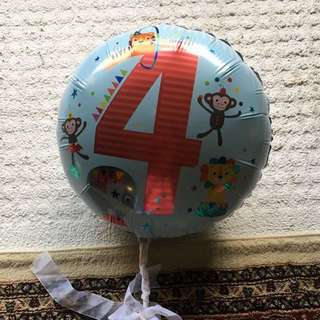 4th Birthday Balloon