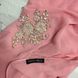 Hana bella long shawl with beads