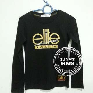 Elite black tshirt