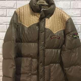 🔴過年大特價🔴寒流抗寒 登山風 美式布章 雙色卡其直紋條 羽絨外套