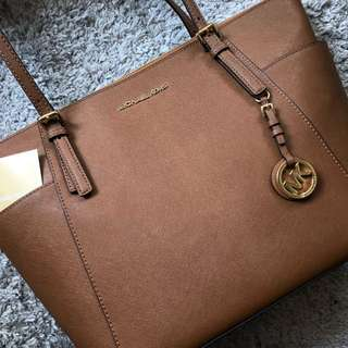 MK Michael Kors Shoulder Tote Tan