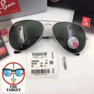 ray ban aviator lenses rb3025 003/58 size : 58/62 mm size ray Ban brand new full packages original