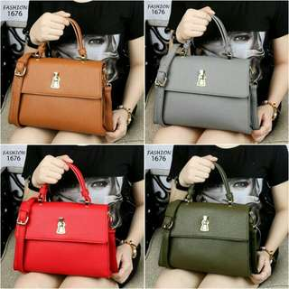 HOT Item Best Seller New Design Handbag FASHION Carrinaya Clemence Leather Like Ori Hardware Gold (1676). Pengiriman dari Batam