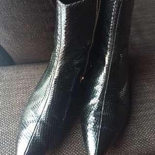 Zara imitation snake skin boots