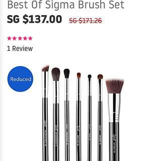 AUTHENTIC BEST OF SIGMA Brush set