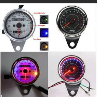 Speedometer and Tachometer For All Bikes......  With Braket...