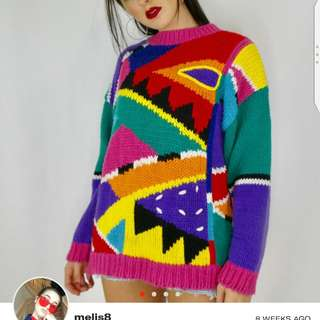 Unique color block sweater