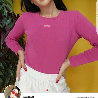 Esprit pink long sleeves