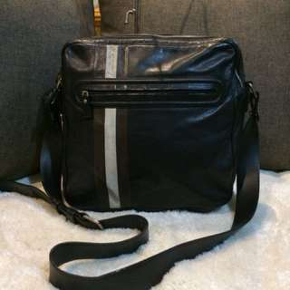 Authentic Bally Leather Sling Bag