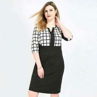 Black&White dress (S-XL)