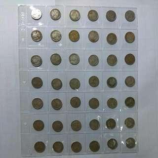 Strait settlement 10cents silver coins