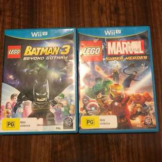 WiiU Games - Batman 3 / Marvel Super Heroes