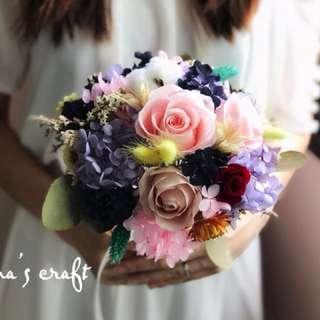 Preserved Flower - 100% Handmade Wedding Bouquet