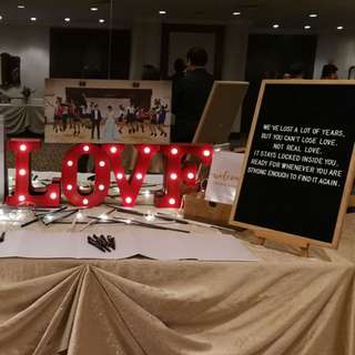 [Sellabrations] LOVE LED Marquee Alphabet Letter Wedding Reception Table Decoration ROM