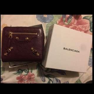 Balenciaga Wallet with coins bag 銀色連散紙包