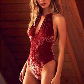 Velvet Red Swimsuit