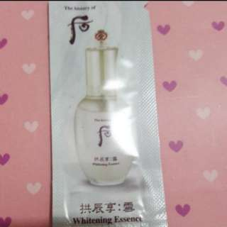 The history of whoo whitening essence  sample pack 1ml