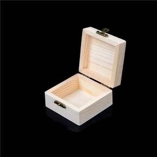 [Name Engraving Customization] Natural Wood Storage Box