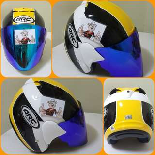 0602***ARC AR1 Yellow Helmet For Sale 😁😁Thanks To All My Buyer Support 🐇🐇 Yamaha, Honda, Suzuki
