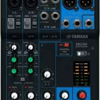 Yamaha MG06 Mixer for sale