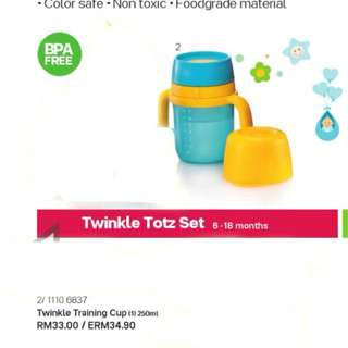 Tupperware brand Twinkle Baby training cup & straw tumbler