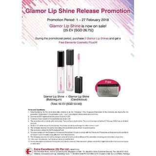 Organic Glamor Lip Shine Release Promotion
