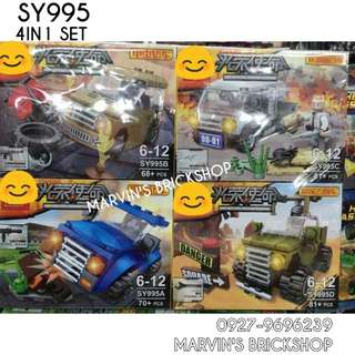 For Sale City Vehicles 4in1 Building Blocks Toy